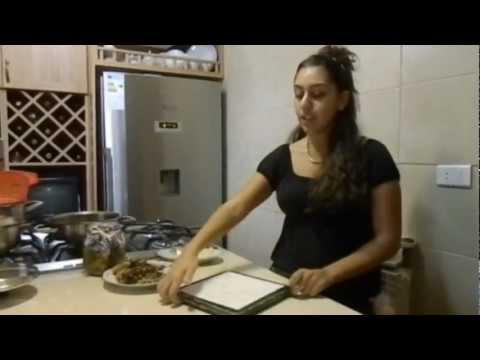 Lebanese Food (Mdardra) and Arabic Letters