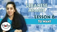 Lebanese Lesson 6 (I Want)