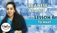 Lebanese Lesson 6 (I Want)