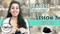 Learn Arabic (Lebanese) Lesson 7 (Climate)