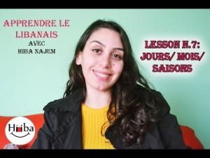 Leçon 7: Jours / Mois / Saisons en Libanais