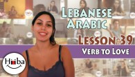 Lesson 39 – Lebanese Verb To Love